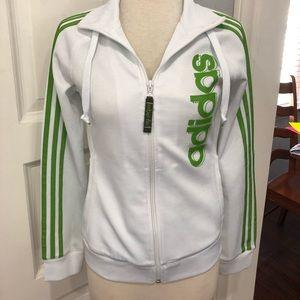 adidas Jackets & Coats - Adidas Green Stripe Jacket SZ Small
